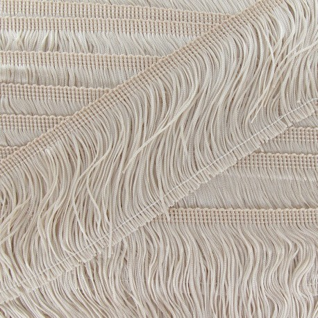 Charleston fringe 10cm x 50cm - light beige