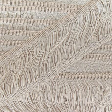 Frange Charleston 100 mm beige clair x 50cm