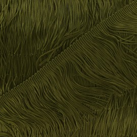 Charleston fringe 10cm x 50cm - olive green