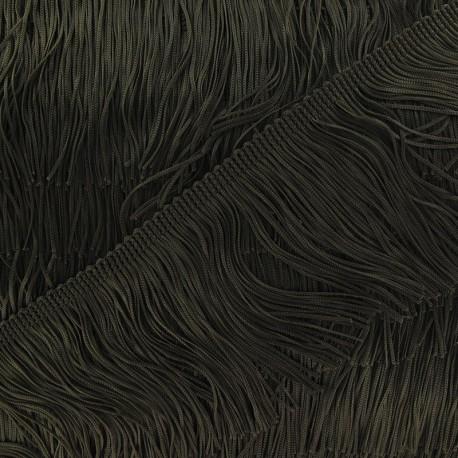 Charleston fringe 10cm x 50cm - khaki