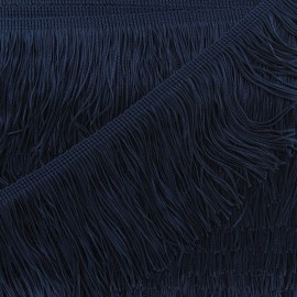 Charleston fringe 10cm x 50cm - navy blue