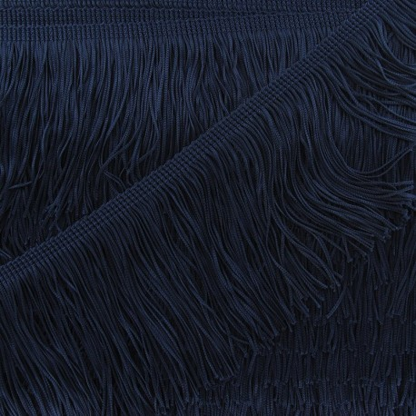 Charleston fringe 10cm x 50cm - navy blue