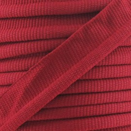 Flange Insertion Piping Cord - carmine red