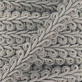 Ear of wheat braid trimming ribbon 12mm  x 1m - grey