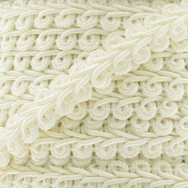 Ear of wheat braid trimming ribbon 12mm  x 1m - cream