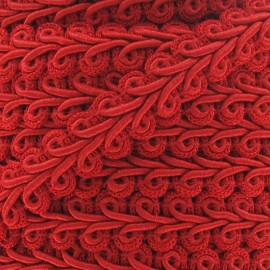 Ear of wheat braid trimming ribbon 12mm  x 1m - red