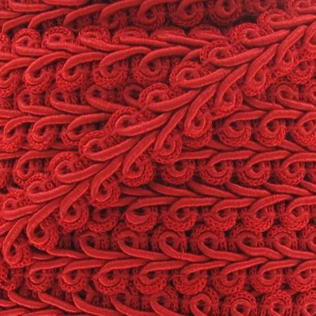 Ear of wheat braid trimming ribbon 12mm  x 1m - red