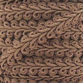 Ear of wheat braid trimming ribbon 12mm  x 1m - old brown