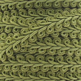 Ear of wheat braid trimming ribbon 12mm  x 1m - olive green