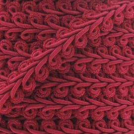 Ear of wheat braid trimming ribbon 12mm  x 1m - fuchsia
