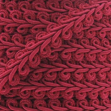 Ear of wheat braid trimming ribbon 12mm  x 1m - fuchsia