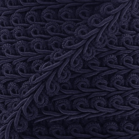 Ear of wheat braid trimming ribbon 12mm  x 1m - navy blue
