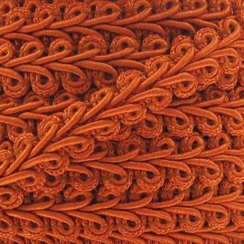 Ear of wheat braid trimming ribbon 12mm  x 1m - orange
