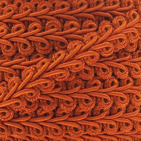 Ear of wheat braid trimming ribbon 12mm  x 1m - orange