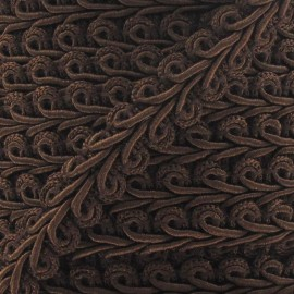 Ear of wheat braid trimming ribbon 12mm  x 1m - brown