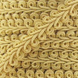 Ear of wheat braid trimming ribbon 12mm  x 1 m - honey-color