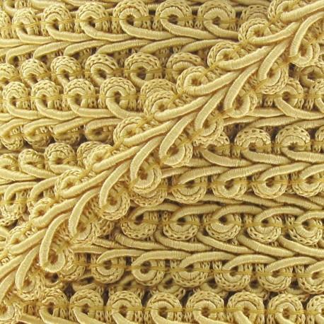 Ear of wheat braid trimming ribbon 12mm  x 1 m - honey-color