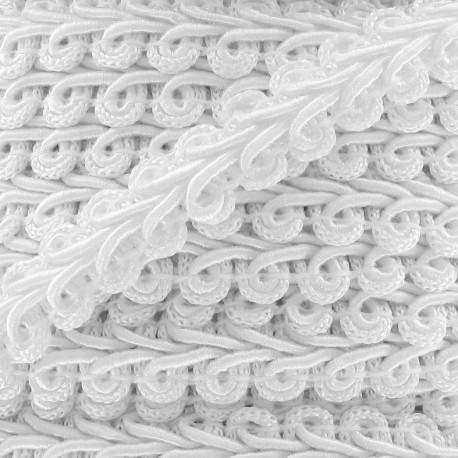 Ear of wheat braid trimming ribbon 12mm  x 1 m - white