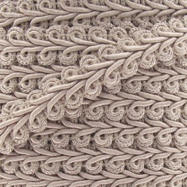 Ear of wheat braid trimming ribbon 12mm  x 1 m - light beige