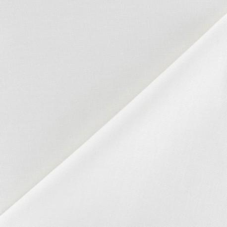 Tissu coton uni Reverie grande largeur (280 cm) blanc x 10cm