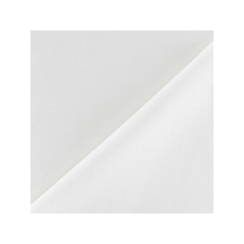 tissu coton grande largeur blanc. Black Bedroom Furniture Sets. Home Design Ideas