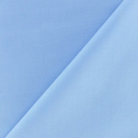 Tissu coton uni Reverie grande largeur (280 cm) pervenche x 10cm