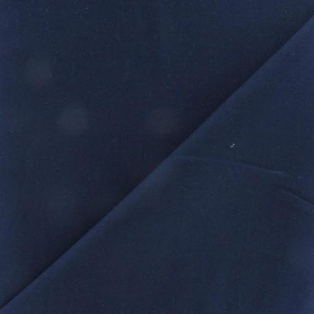 Tissu coton uni Reverie grande largeur (280 cm) marine x 10cm