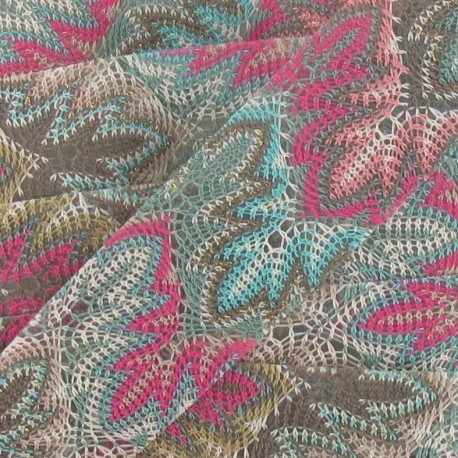 Fusible hemstitched braid trimming ribbon 30mm x 50cm - turquoise