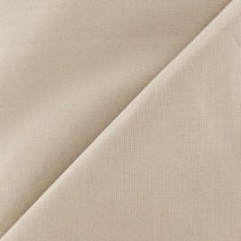 Tissu coton uni Reverie grande largeur (280 cm) sésame x 10cm