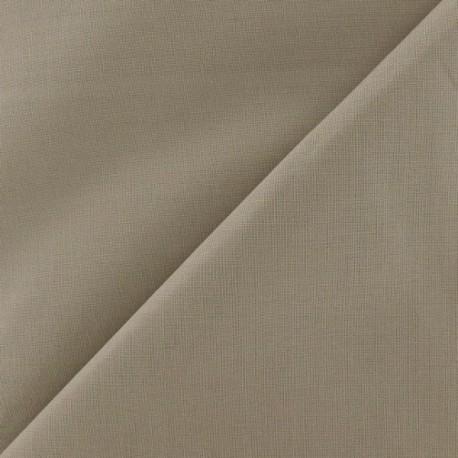 Tissu coton uni Reverie grande largeur (280 cm) vison x 10cm