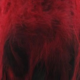 Galon Plume effet nacré rouge 10 / 15 cm x 50cm