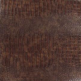 Tissu enduit Alligator acajou x 10cm