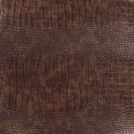Imitation leather alligator - Mahogany x 10cm
