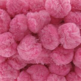 Big pom pom trim - pink x 50cm