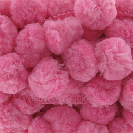 Large-sized pompom braid trimming ribbon x 50cm - pink