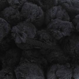 Galon Gros Pompons - Noir x 50cm