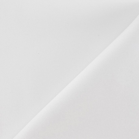 Tissu coton sergé blanc x 10cm