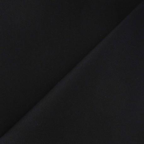 Tissu coton sergé noir x 10cm