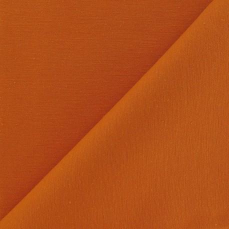 Tissu coton sergé clémentine x 10cm