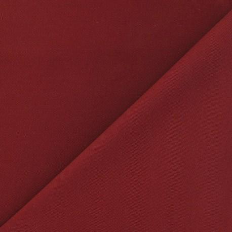 Tissu coton sergé pourpre x 10cm