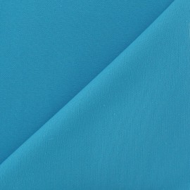 Tissu coton sergé turquoise x 10cm