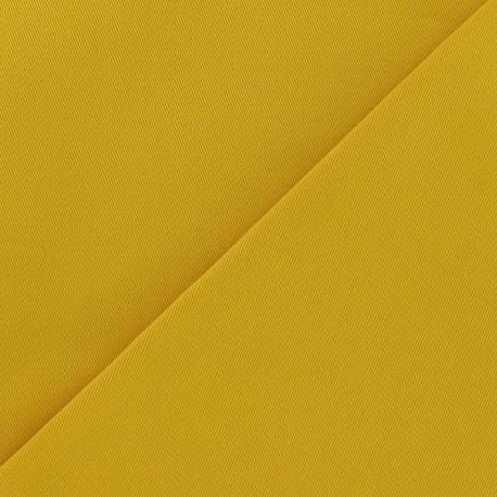 Tissu coton sergé curcuma x 10cm