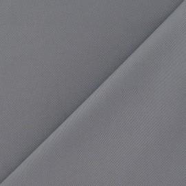 Tissu coton sergé gris souris x 10cm