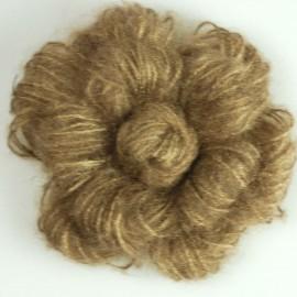 Mohair flower brooch - golden