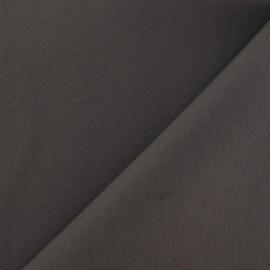 Tissu coton sergé gris gasoil x 10cm