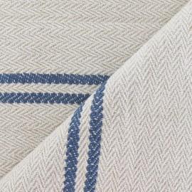 Tissu coton tissé Harry bleu x 10cm