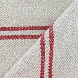 Tissu coton tissé Harry rouge x 10cm