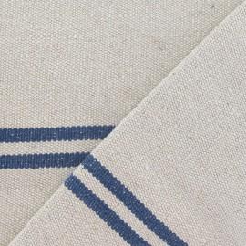 Tissu coton tissé Joséphine bleu x 10cm