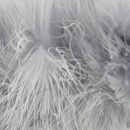 Galon Plumes cheveux d'ange gris x 30cm