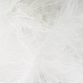 Angel hair feathers braid trimming ribbon x 30cm - white